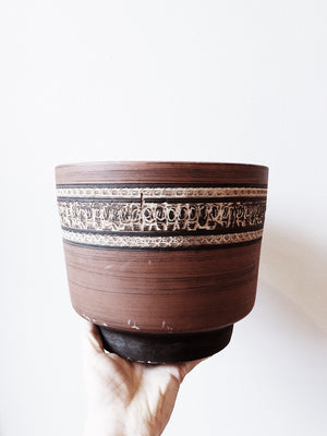 Vintage Mid Century Clay Pot with Drainage