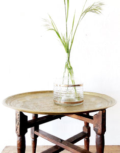 Antique Brass Side Tray Table