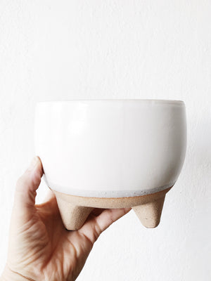 Handmade Ceramic Footed Planter