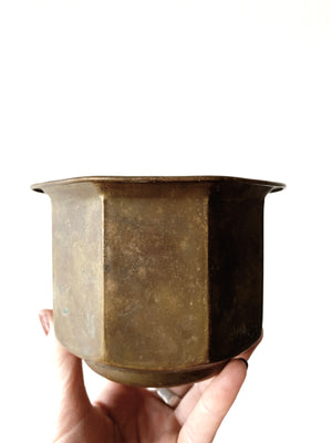Vintage Brass Pot