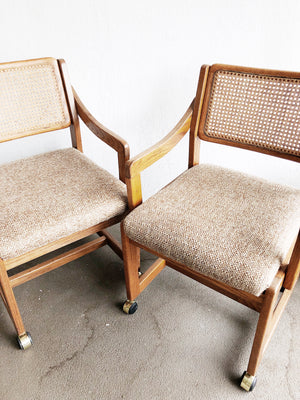 Vintage Rolling Cane Back Chair