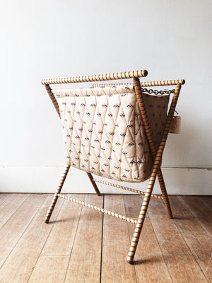 Vintage Quilted Knitting Caddy