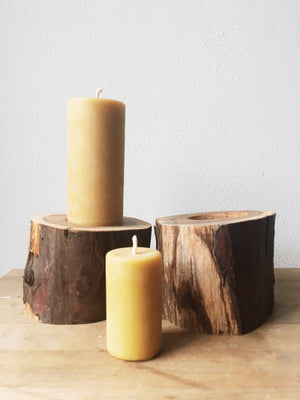 Handmade Wood  Cut Candle Holders