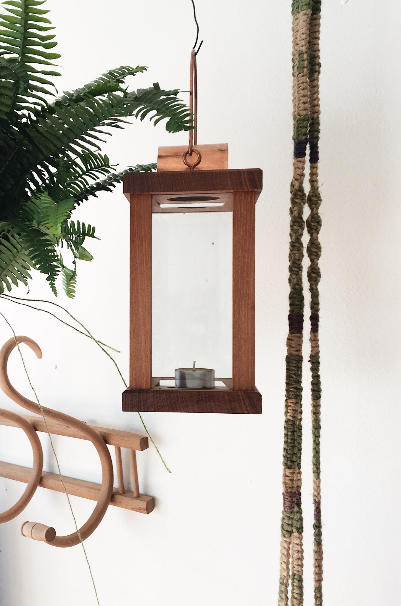 Wood and Copper Lantern