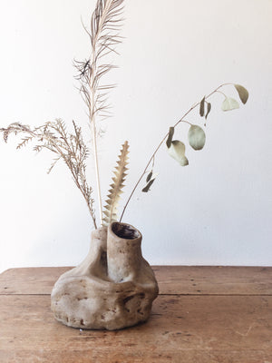 Handmade Double Ceramic Sculptural Vase