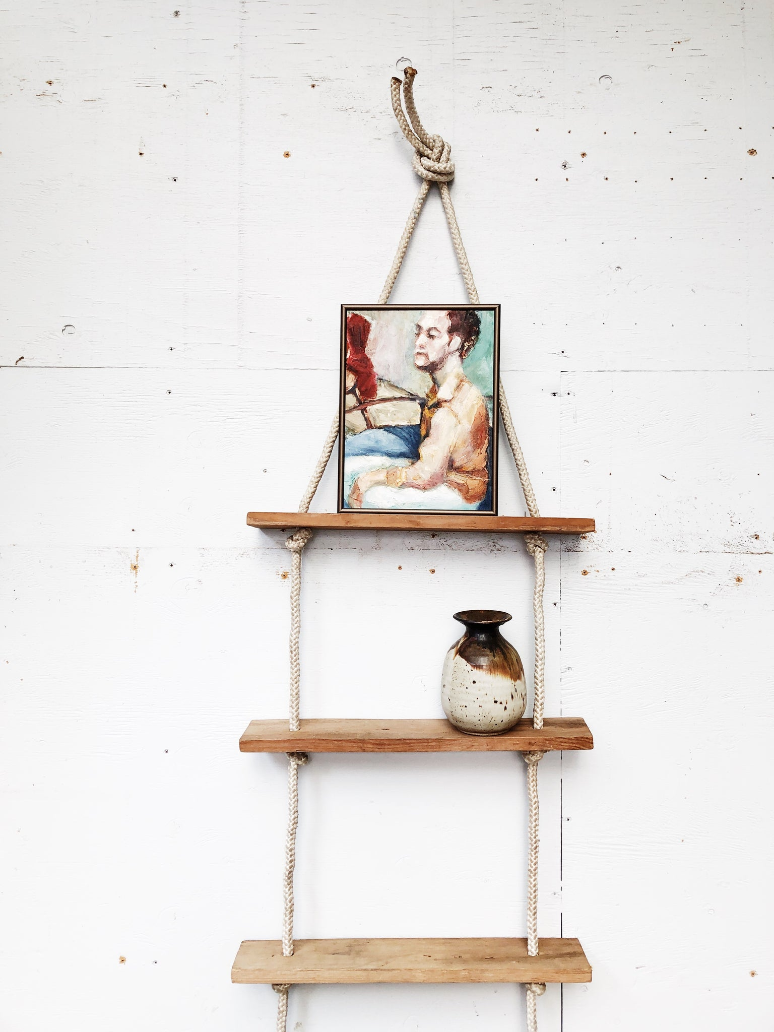 Vintage Rope Ladder Shelf Maven Collective