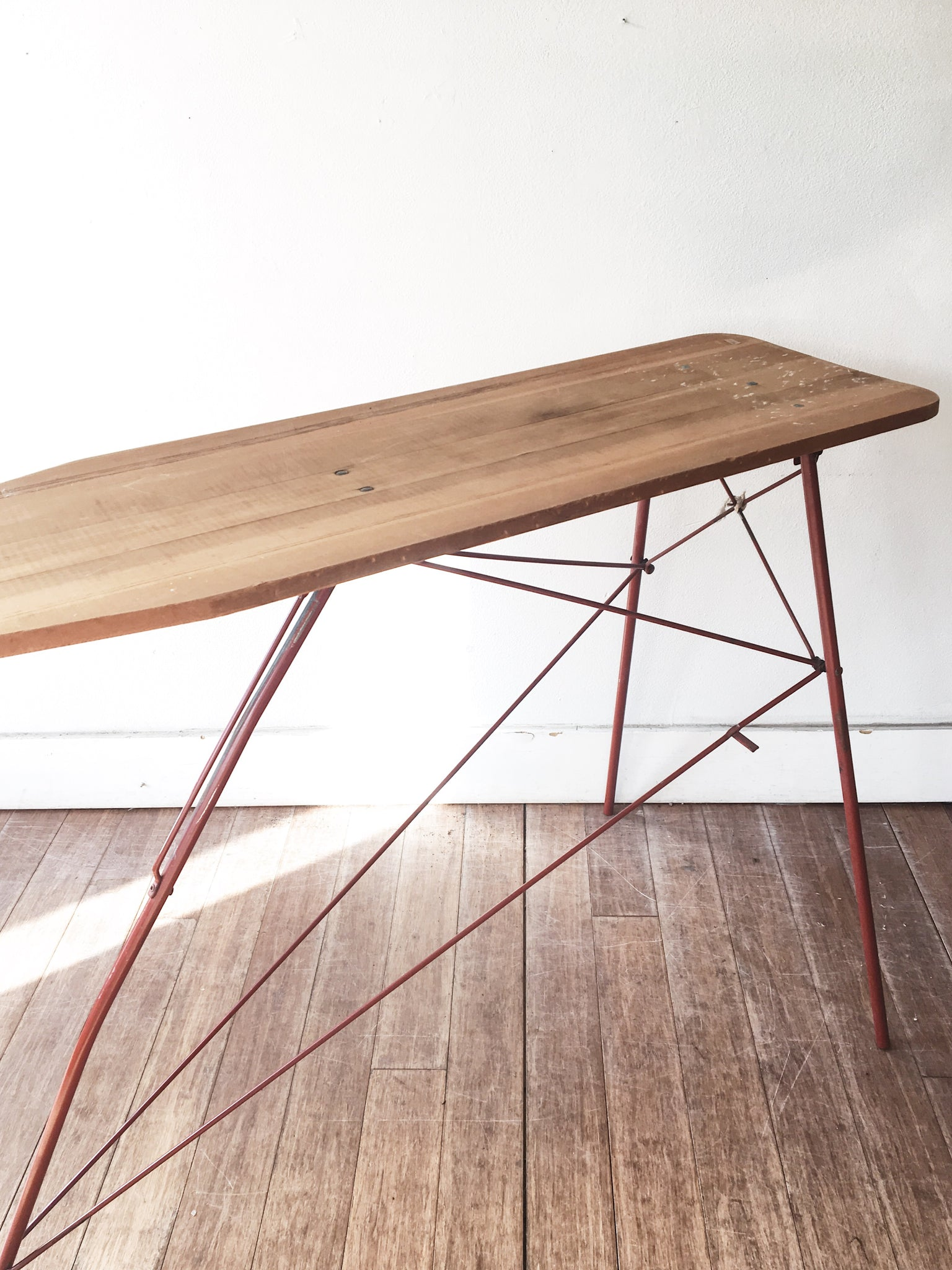 Vintage Wood and Metal Ironing Board