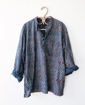 Vintage Indian Indigo Cotton Tunic