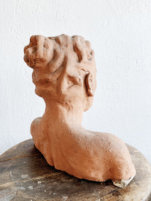 Vintage Clay Bust / Sculpture