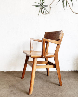 Mid Century Wood Arm Chair
