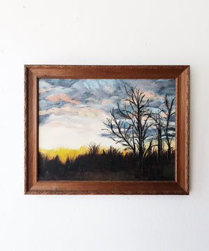 Vintage Sunrise Painting