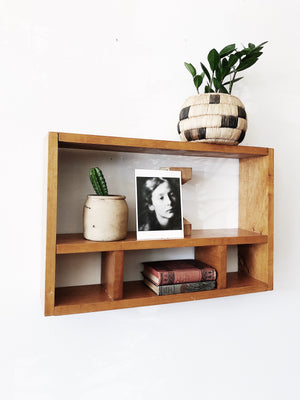 Vintage Divided Cubby Shelf