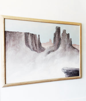Large Scale Vintage Desert Painting