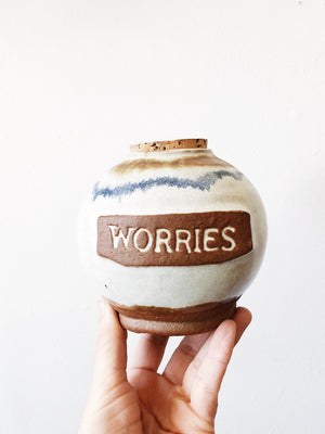 Vintage Ceramic Worry Jar
