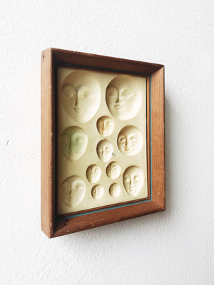 Vintage Framed Faces Mold
