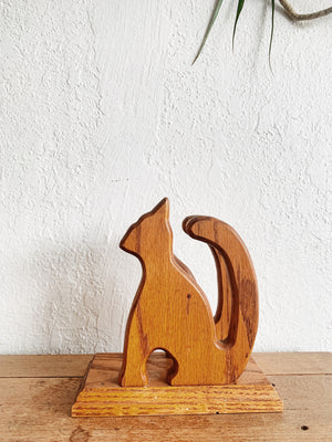 Vintage Cutout Wood Letter Holder