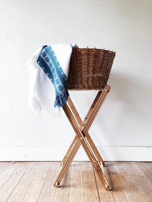 Vintage Laundry Basket and Stand