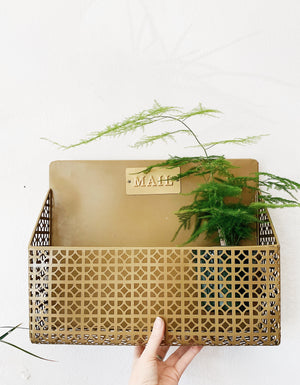 Gold Wall Rack for Plants, Books & Letters