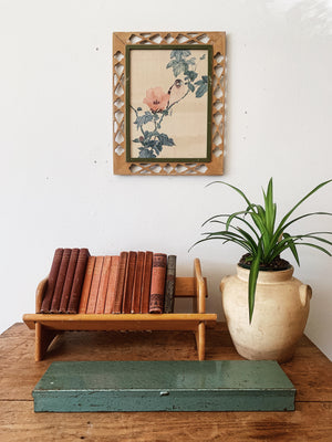 Vintage Wood Book Rack