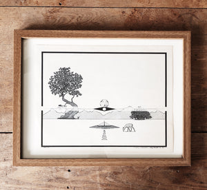 Original Vintage Pen and Ink Drawing