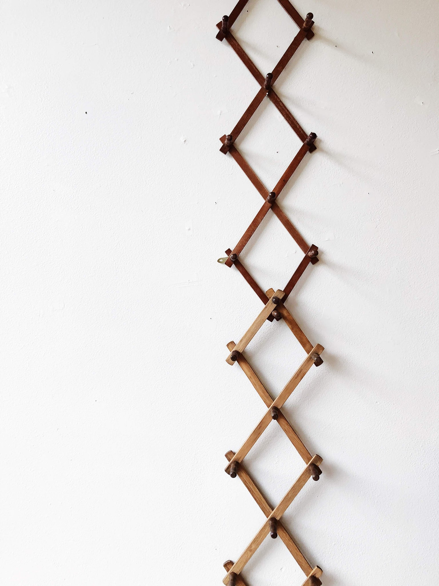 Vintage Accordion Peg Rack