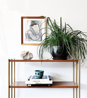 Vintage Mid Century Metal Shelf
