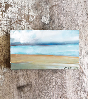 Petite Encaustic Seascape Painting
