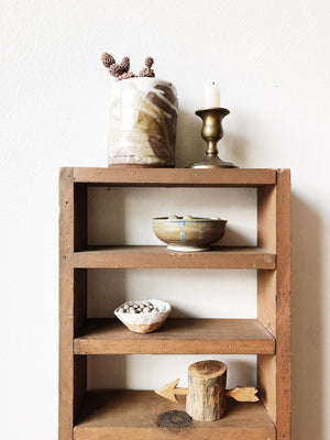 Handmade Vintage Tall Display Shelf