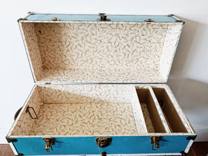 1950s Student Sized Travel Trunk