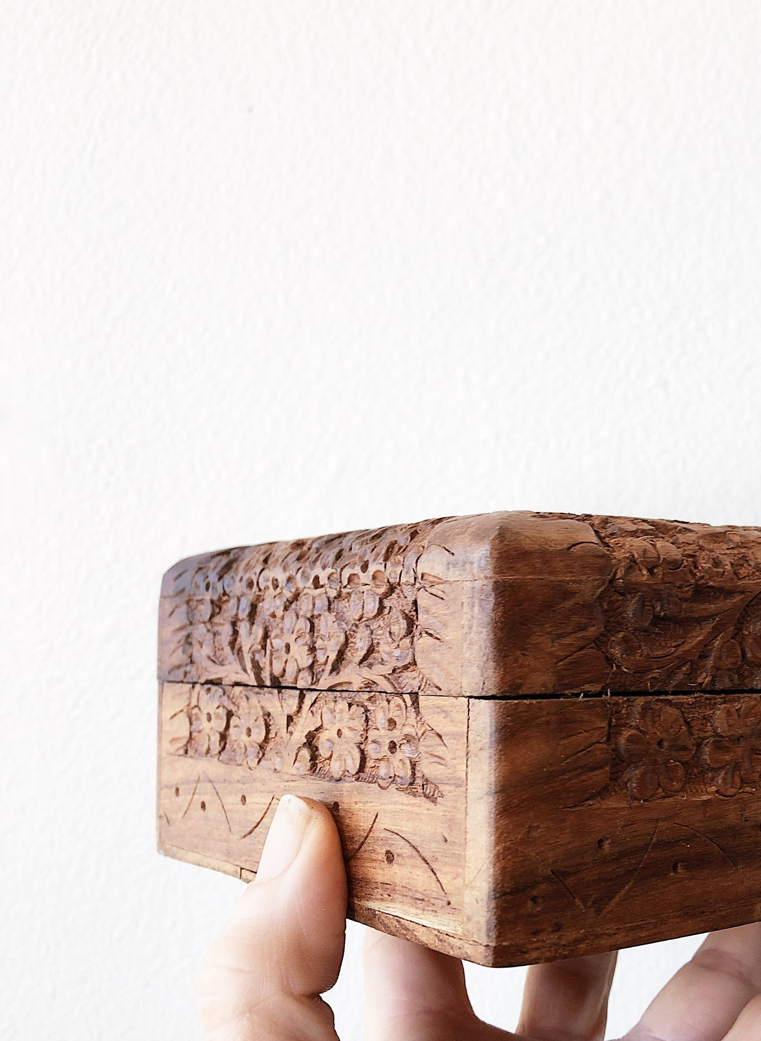 Vintage Carved Wood Box