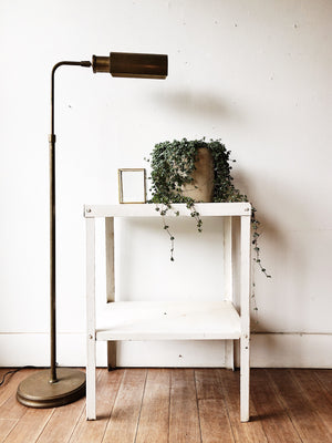 Vintage Worn Brass Floor Lamp