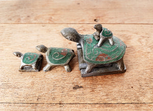 Vintage Pewter Nesting Turtles