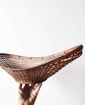 Vintage Oblong Gathering Basket