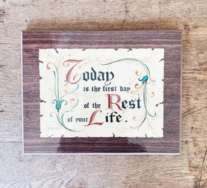 Vintage Motivational Plaque
