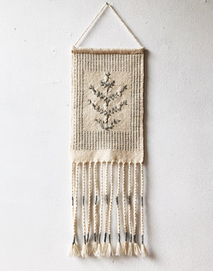 Vintage Wool Embroidered Weaving