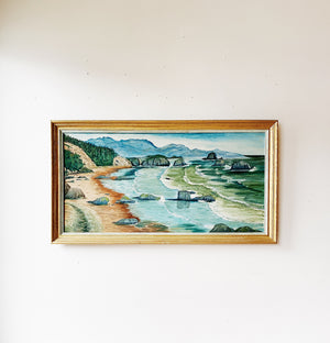 Extra Large Vintage Framed Seascape
