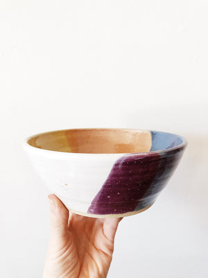 Vintage Colorful Ceramic Bowl