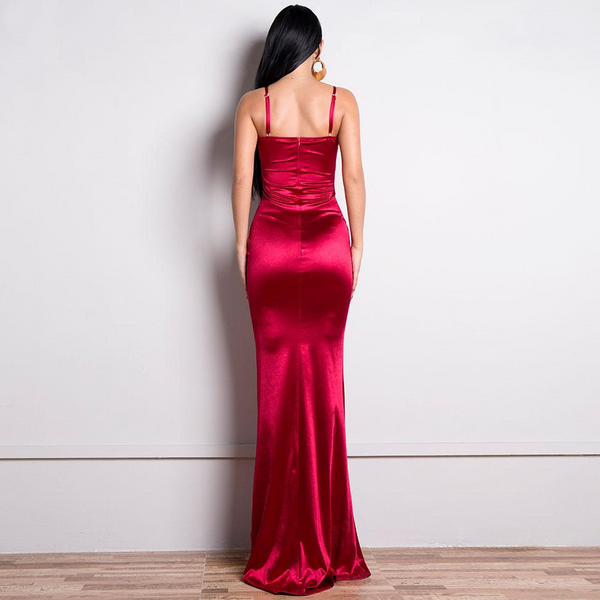 long red dress