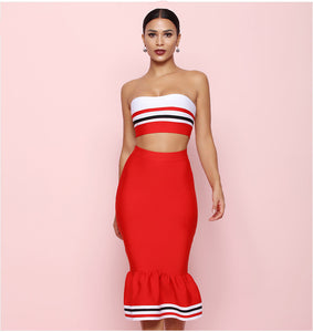 Red Bodycon Set