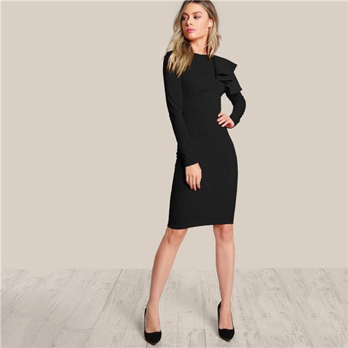 Black Slim Bodycon