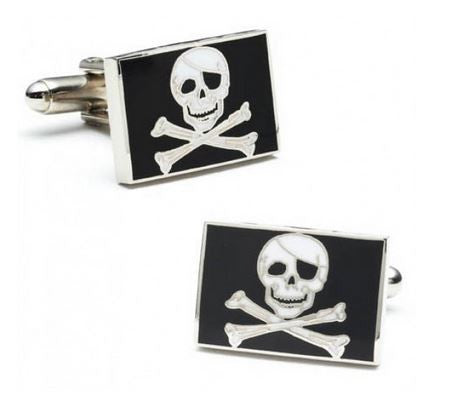 Jolly Roger Flag Cufflinks