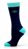 Star Wars Navy/Teal Yoda Socks