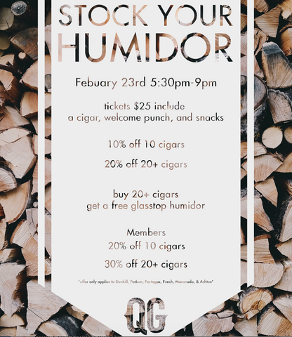 Stock Your Humidor Event & Sale