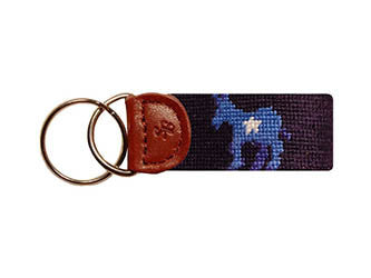 Democrat Needlepoint Key Fob