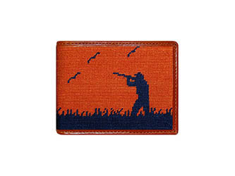 Bird Hunter Needlepoint Wallet