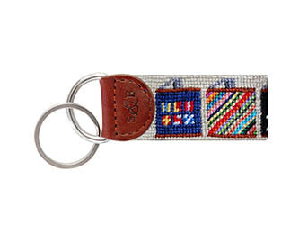 Flasks Needlepoint Fob