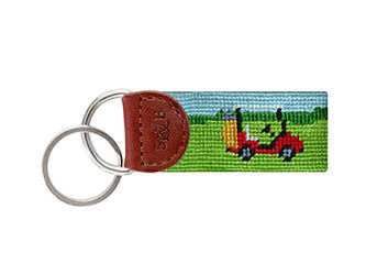 Golf Cart Needlepoint Fob