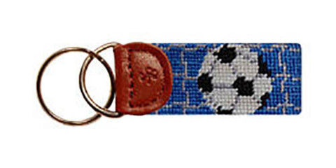 Soccer Needlepoint Fob