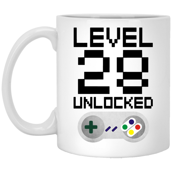 28th Birthday Level Unlocked Coffee Mug