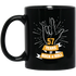 57 Years Of Rock N Roll Black Coffee Mug